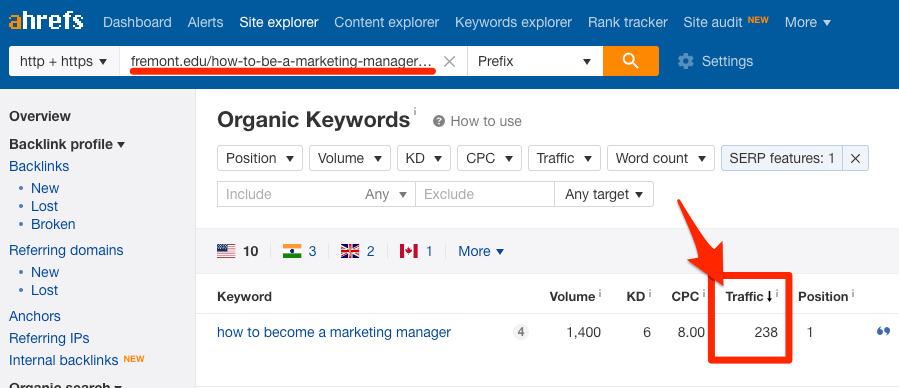 traffic-from-featured-snippet