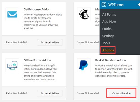 WPForms插件PayPal组件