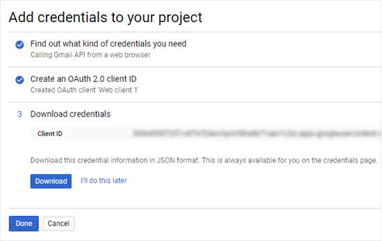 创建OAuth和客户端ID-3