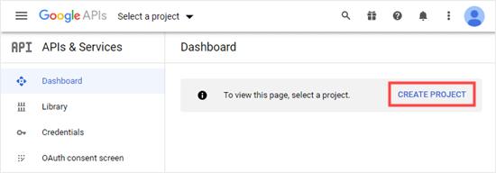 Google开发者项目创建