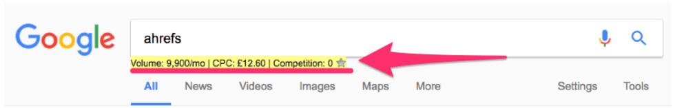 Keywords Everywhere浏览器扩展
