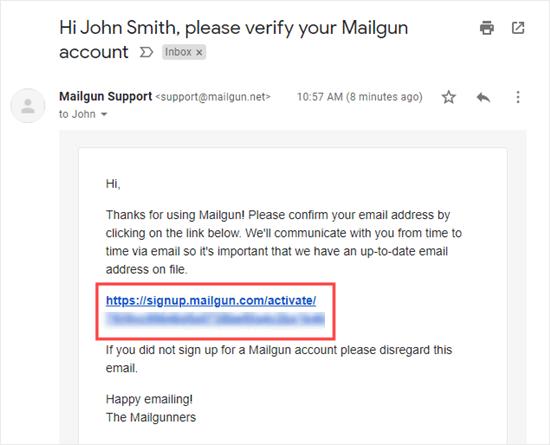Mailgun邮箱验证