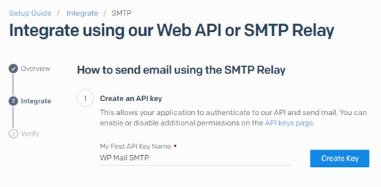 SendGrid生成API密钥