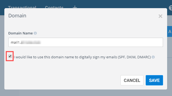 Sendinblue域名添加验证
