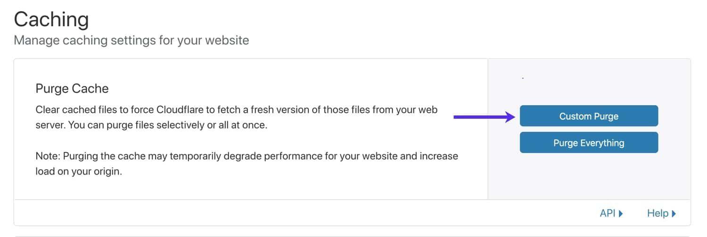 清除Cloudflare缓存