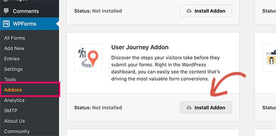 User Joruney组件