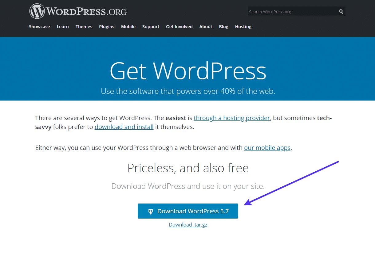 下载最新的WordPress版本