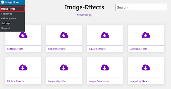 Image Hover Effects Ultimate插件效果选择