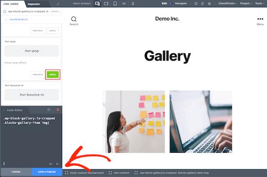 CSS Hero插件图片悬停效果应用