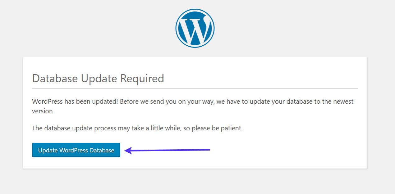 更新WordPress数据库