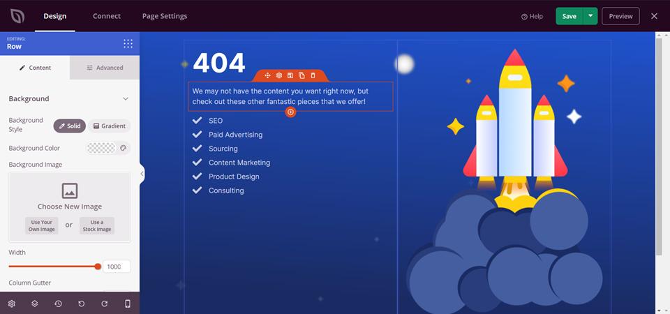 SeedProd 404错误页面设计