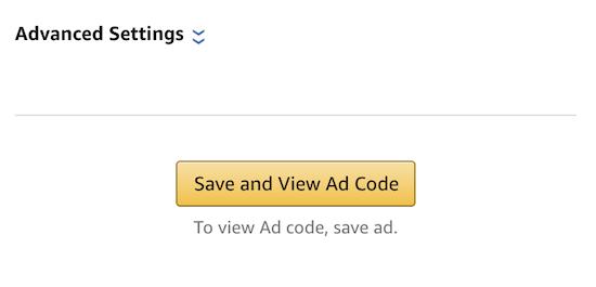 生成亚马逊广告代码