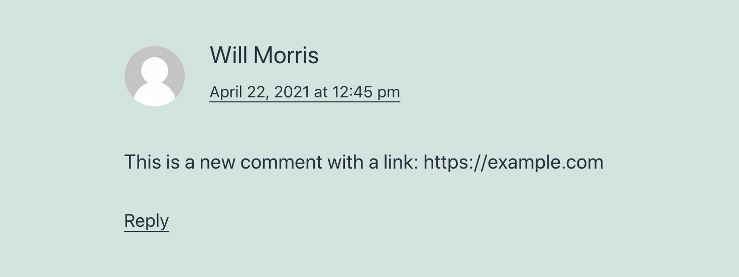 移除评论用户网站URL地址