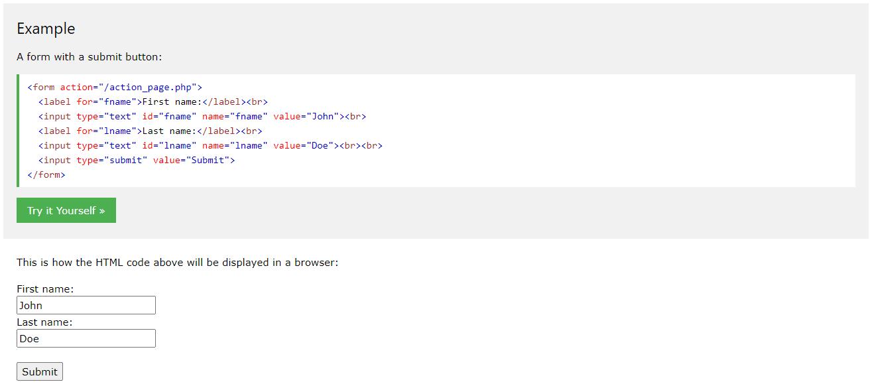 HTML 5表单示例