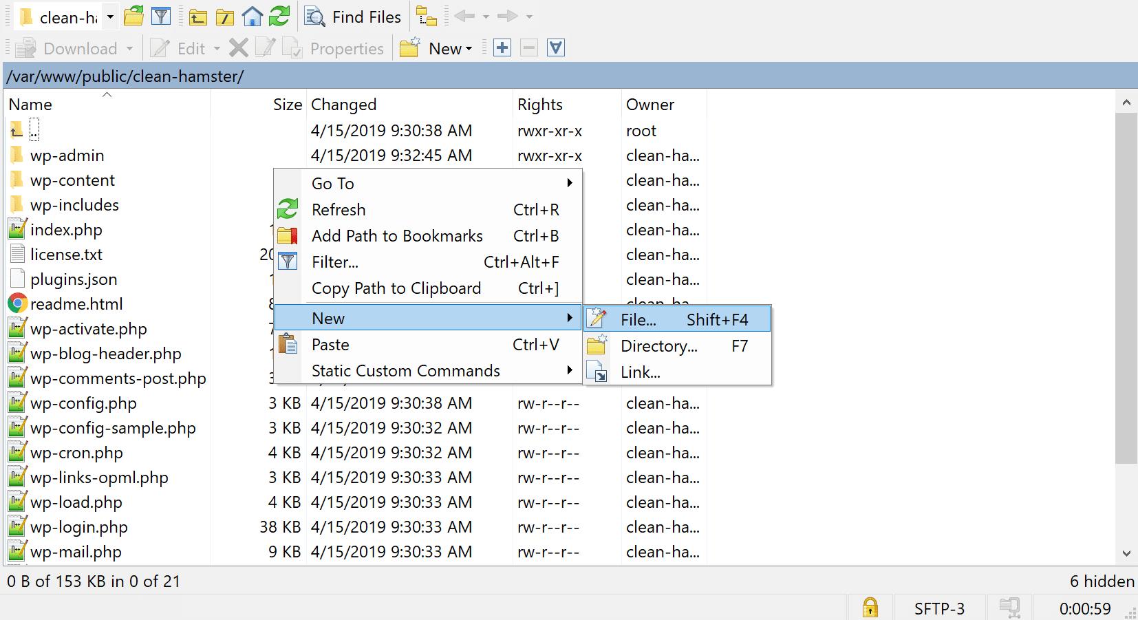 创建一个新的php.ini文件
