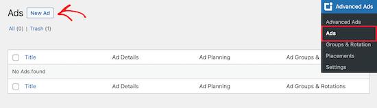 WP Advanced Ads插件新增广告