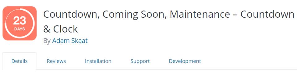 Countdown Builder插件