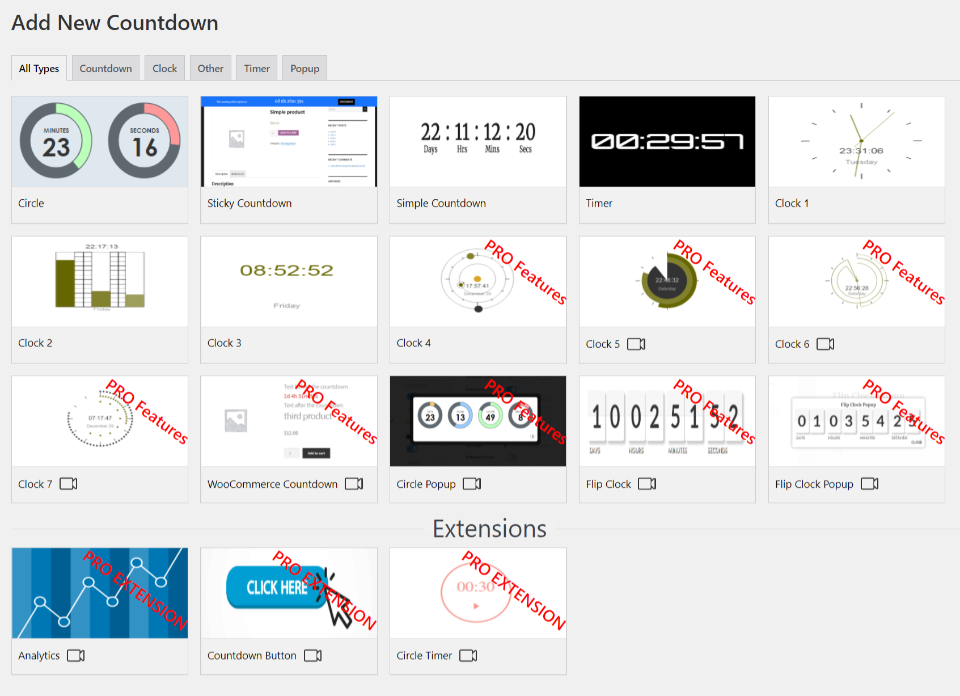 Countdown Builder插件倒计时器样式