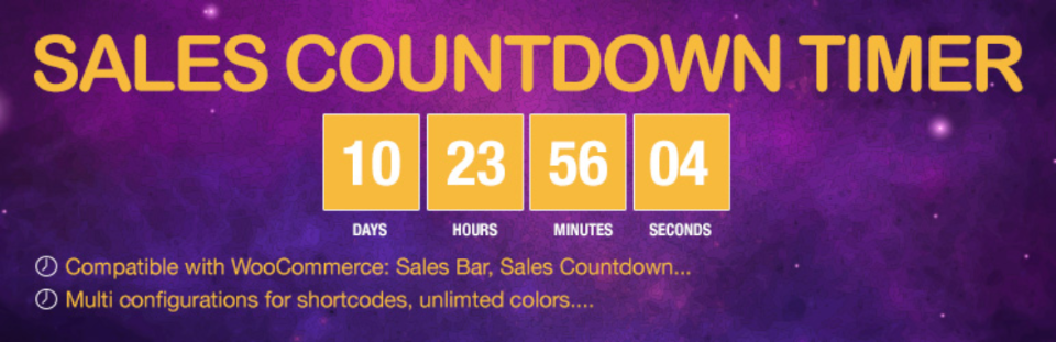 Sales Countdown Timer插件