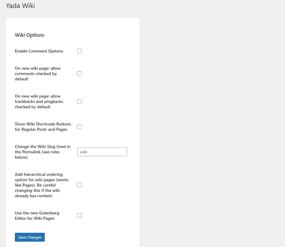 Yada-Wiki-插件选项