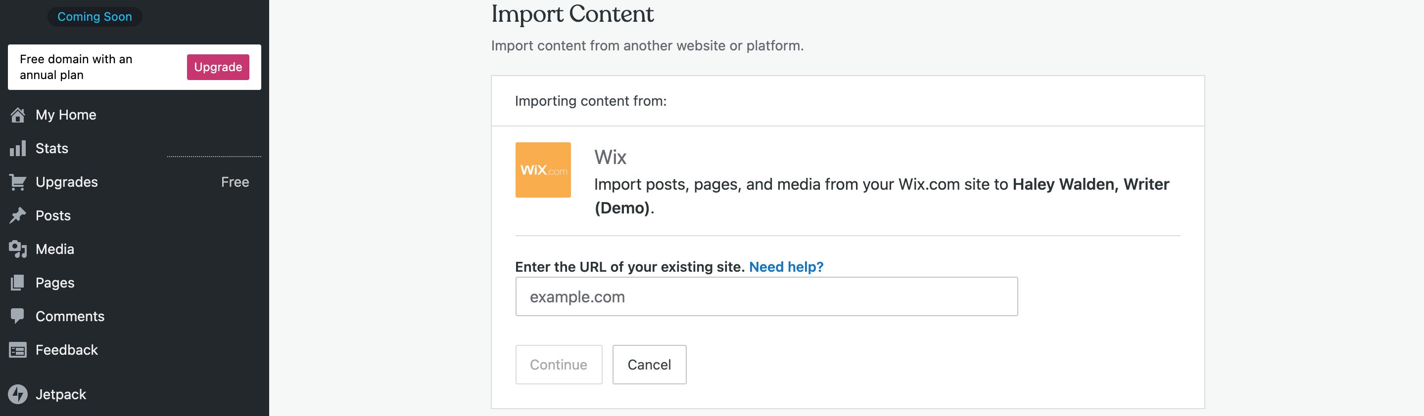 et-wordpressimport-wix