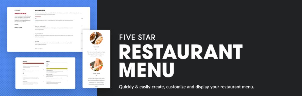 five-star-restaurant-menu