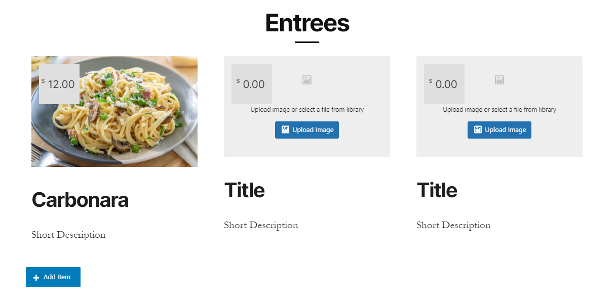 food-menu菜单区块
