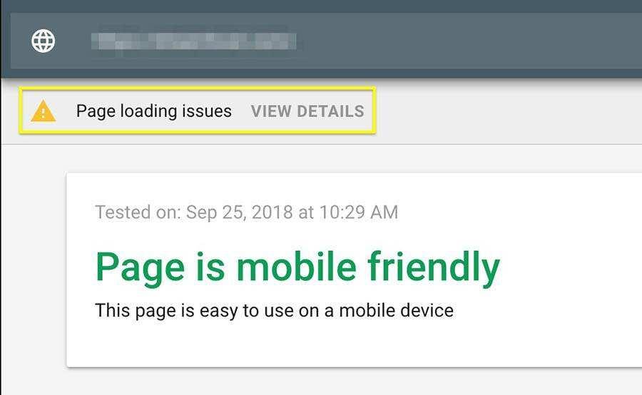 移动设备友好测试工具页面加载原因