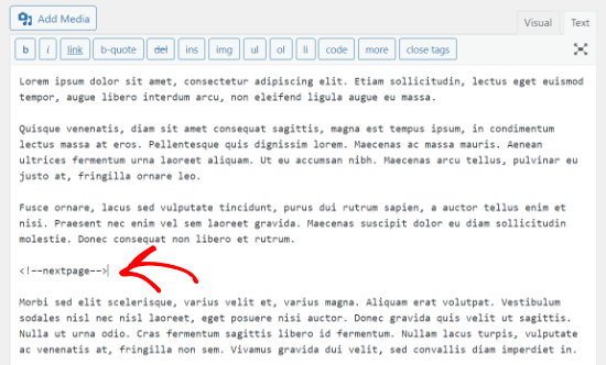 经典编辑器分页符代码