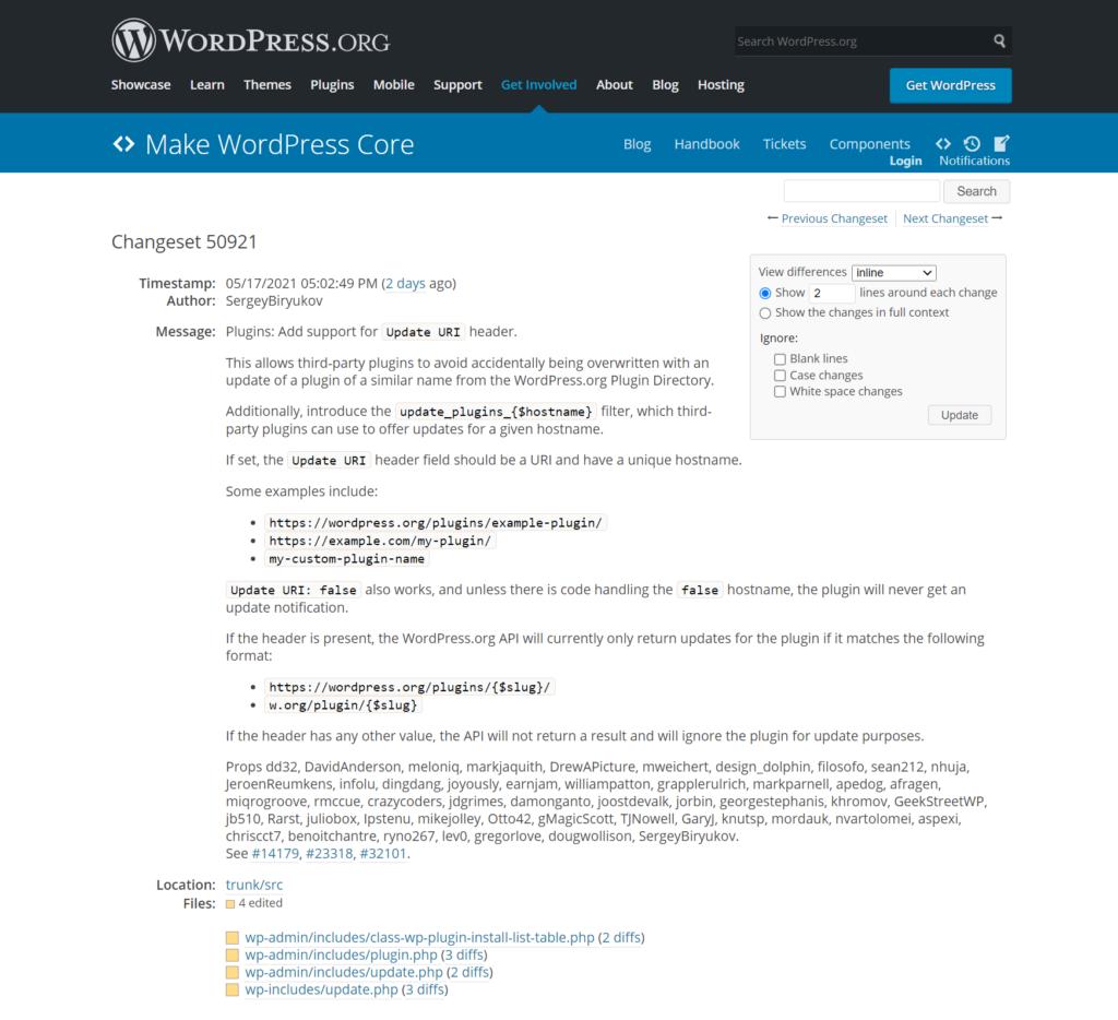 WordPress核心
