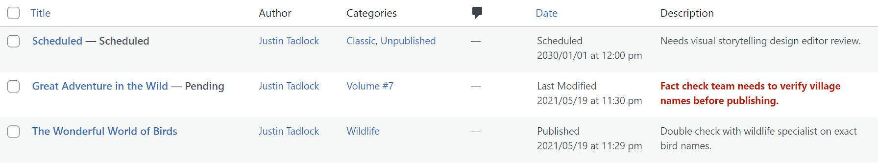 post-descriptions插件文章描述列