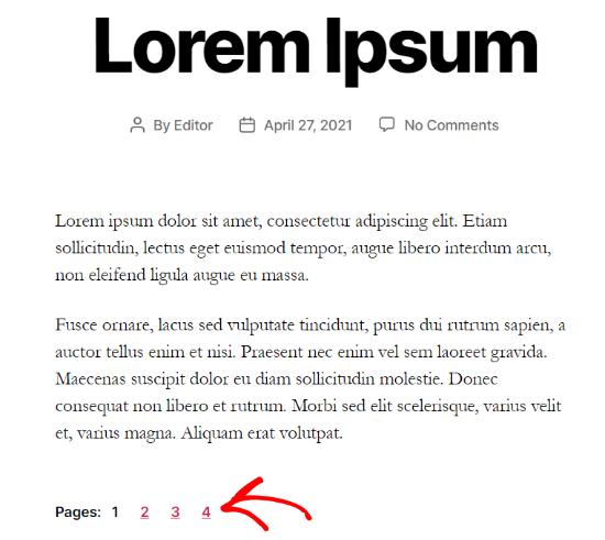 文章分页导航示例