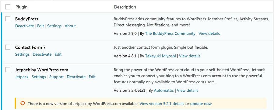 WordPress插件更新