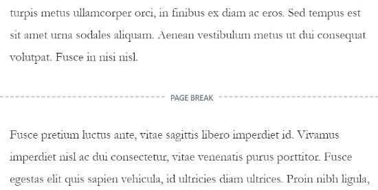 文章分页符示例