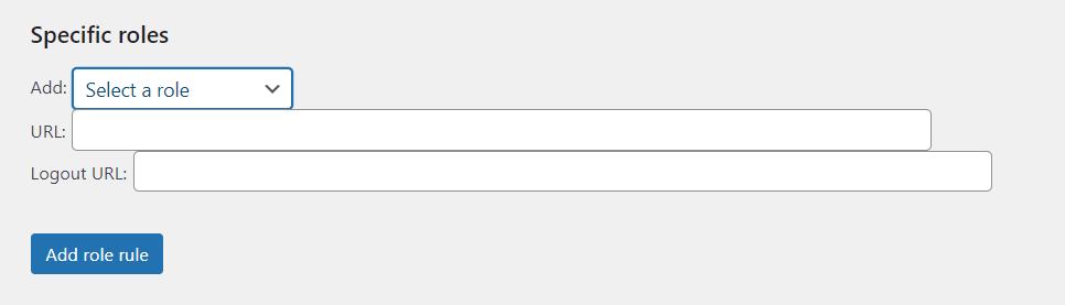 Peter's Login Redirect插件设置