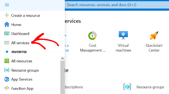 click-all-services-option-in-azure-portal