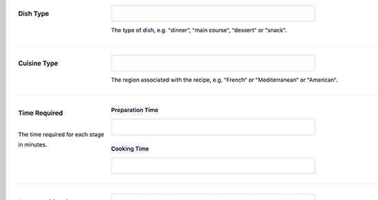 recipe-schema-metadata