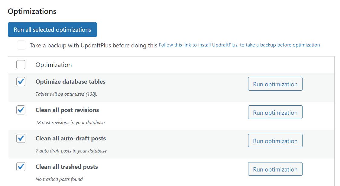 run-optimizations