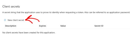 select-the-new-client-secret-option
