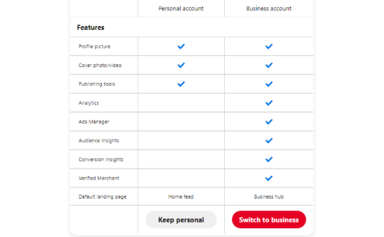select-the-switch-to-business-button