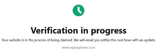 verification-in-progress