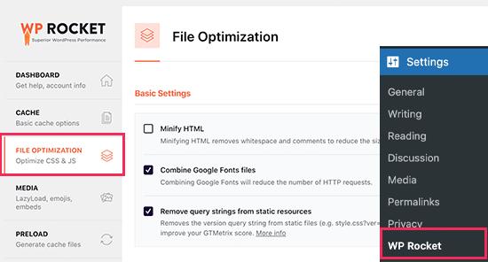 wprocket-fileoptimization