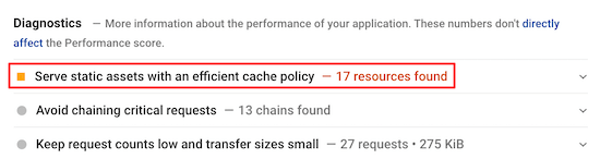 effecient-cache-policy-warning
