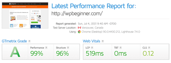 site-speed-test-results