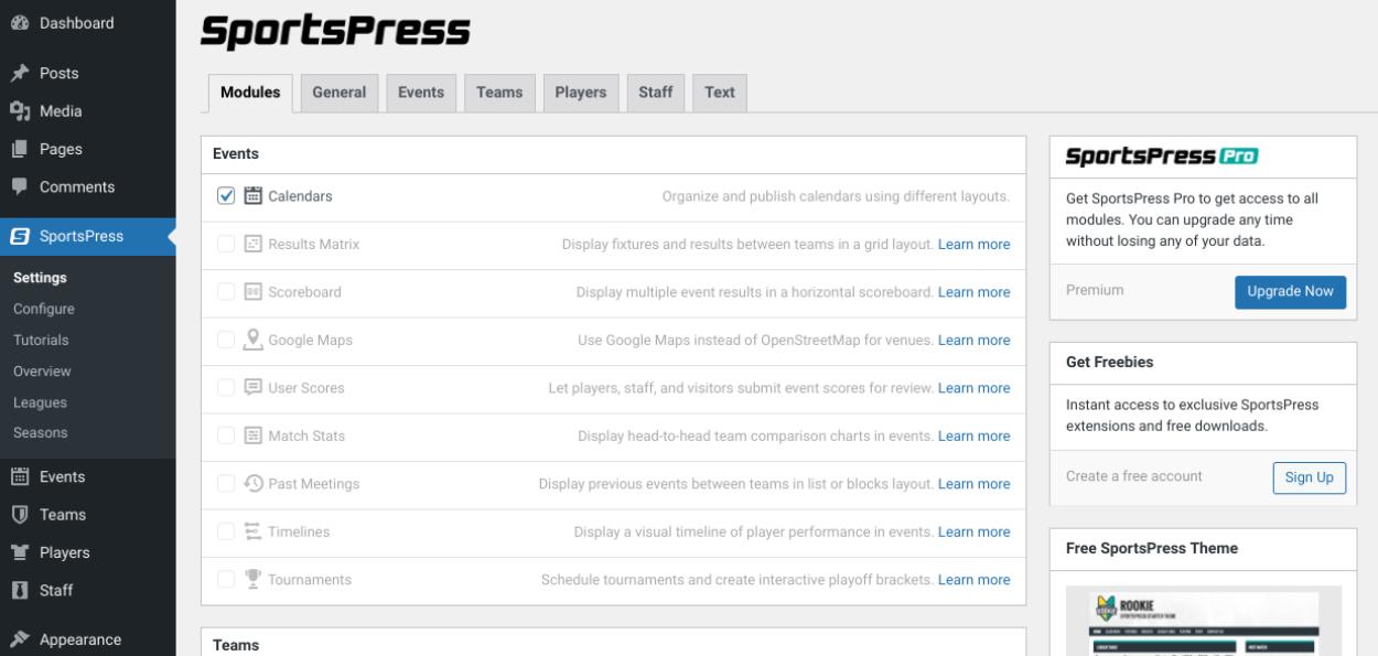 sportspress-plugin-settings
