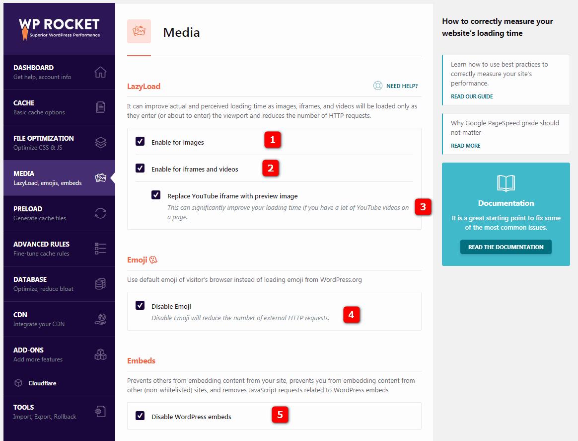 wp-rocket-media-settings