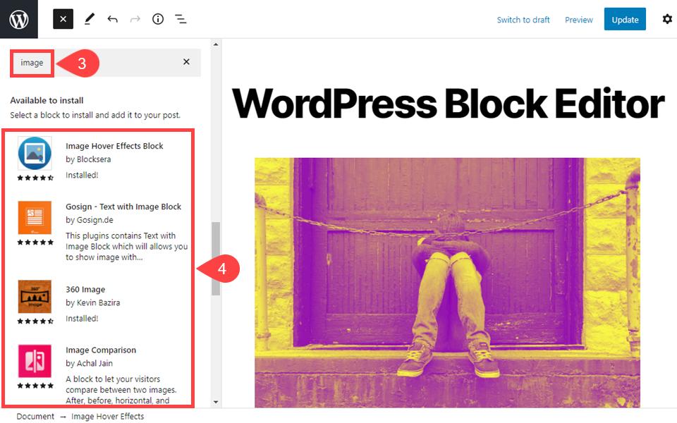 古腾堡编辑器教程:如何访问和使用WordPress区块目录-4
