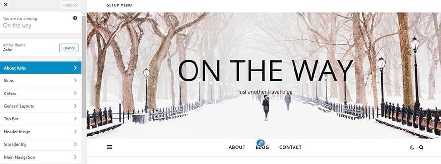 WordPress网站Header图片