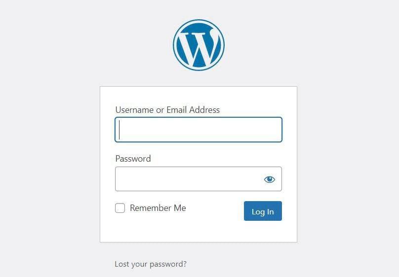 WordPress登录界面