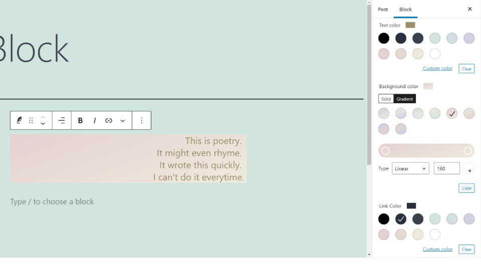 古腾堡编辑器教程:如何使用WordPress诗篇区块-26